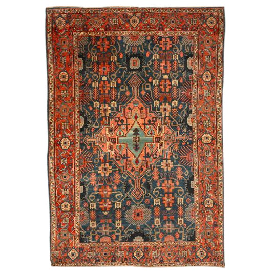 Antique Late 19th Century Persian Senna Rug For Sale