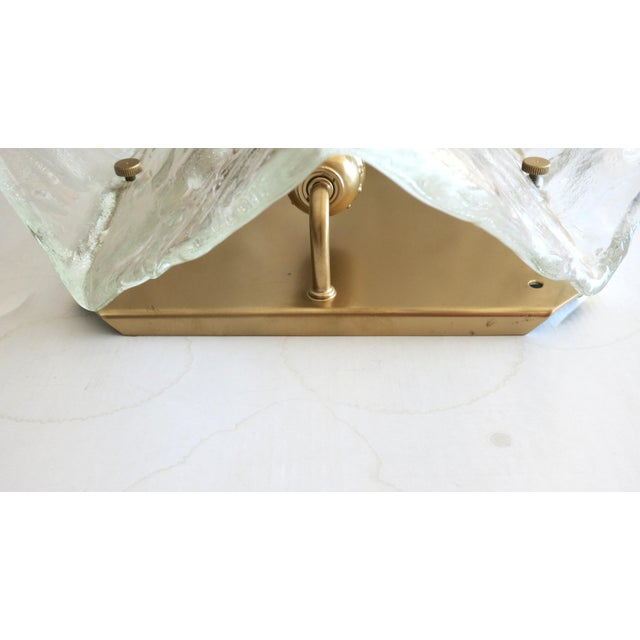 1960s Mazzega Origami Sconces / Flush Mounts (2 Available) For Sale - Image 5 of 6