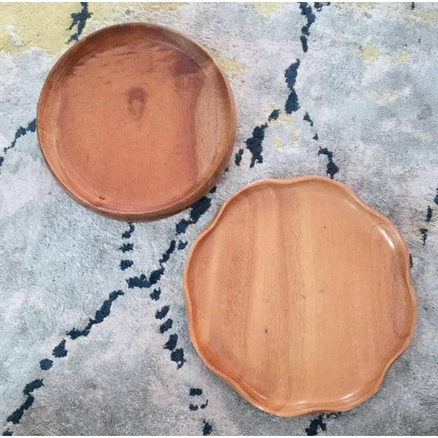 Handmade Wooden Tray - A Pair - Image 2 of 11
