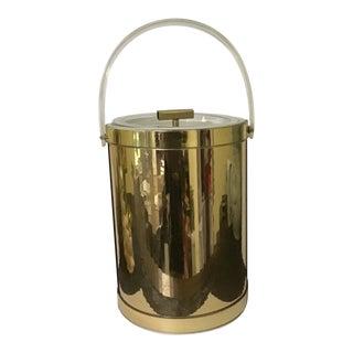 Mid Century Modern Vintage Gold Lucite Ice Bucket