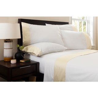 Monte Carlo Banded Flat Sheet Queen - Limestone Preview
