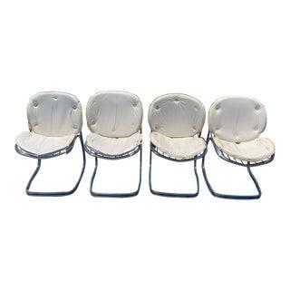 1970s Italian Gastone Rinaldi Chrome Dining Chairs - Set of 4 For Sale