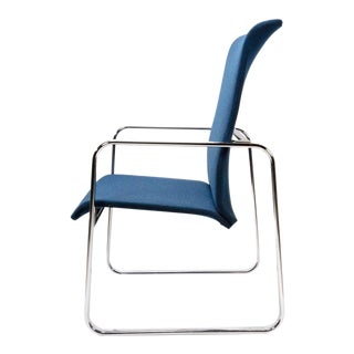 1970s Mid-Century Modern Peter Protzman for Herman Miller Navy Blue High-Back Chair For Sale