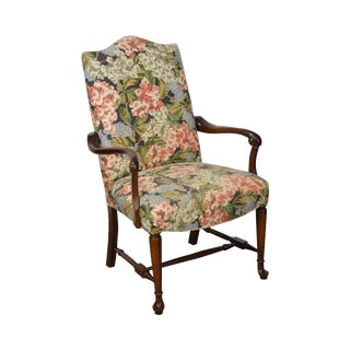 Floral Upholstered Traditional Queen Anne Arm Chair by Fairfield