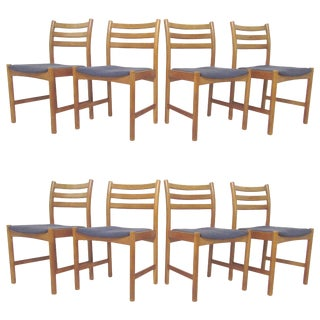 Set of Eight Danish Dining Chairs by Poul Volther for Soro Stolefabrik For Sale