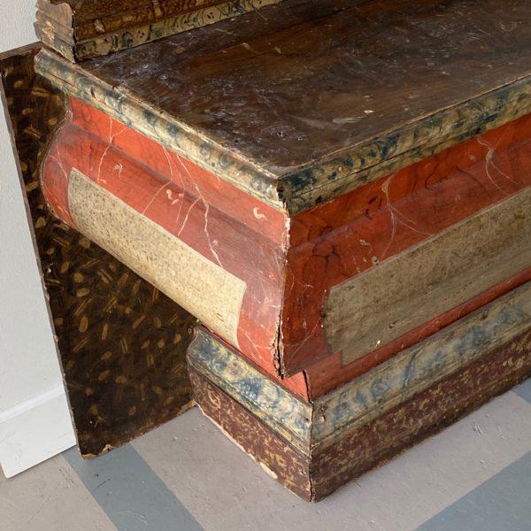 Italian Antique Italian Faux Marble Specimen Altar For Sale - Image 3 of 6