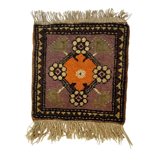 Vintage Handmade Wool Wall Hanging For Sale