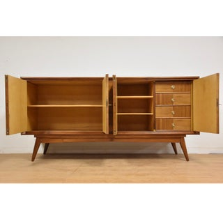 Large European Walnut Mid Century Credenza Preview