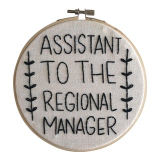 """Assistant to the Regional Manager"" Embroidery"