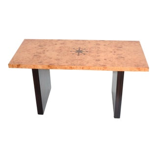 Art Deco Inlaid Bench Coffee Table by Andrew Szoeke 1940s For Sale