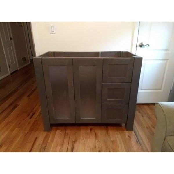Solid Wood Grey Bathroom Vanity - Image 6 of 6