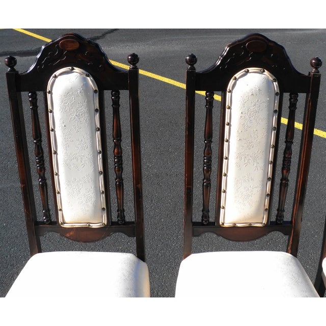 White Early 20th Century Antique Gothic Revival Chairs- Set of 4 For Sale - Image 8 of 10