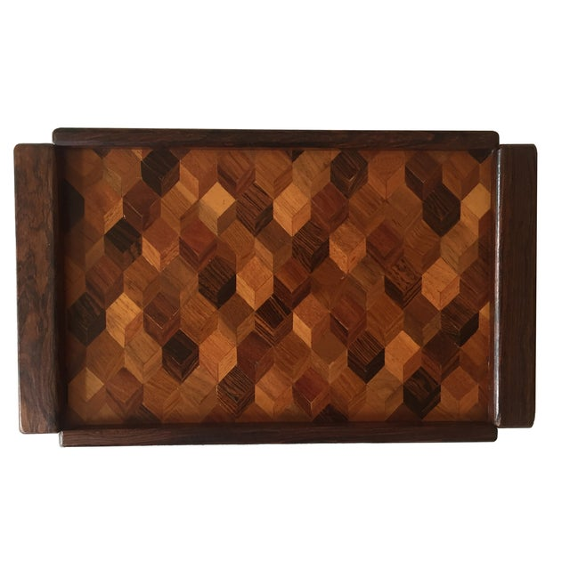 Don Shoemaker Cocobolo Op Art Tray - Image 2 of 8