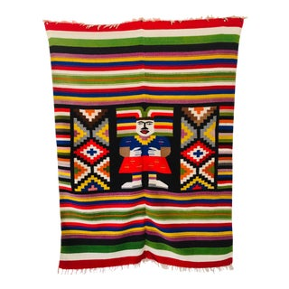 Late 20th Century Multi-Color North American Indian Blanket For Sale