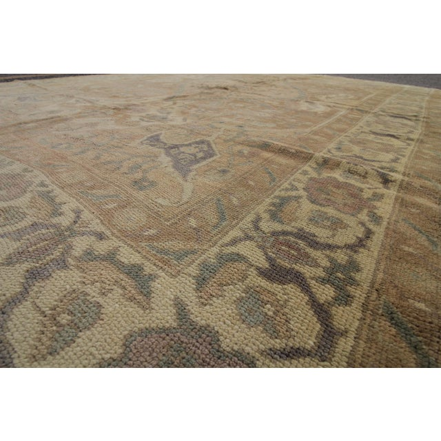 Vintage Turkish Oushak Hand Knotted Rug - 5'11 x 8'7 For Sale - Image 4 of 5
