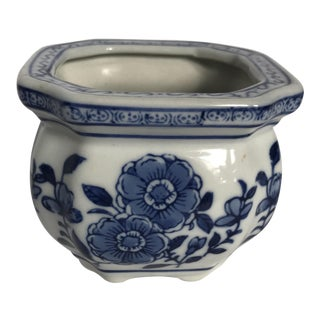 Small Chinese Blue & White Planter