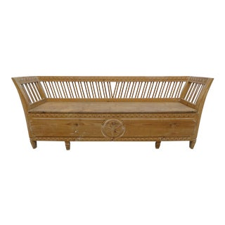 Hand Carved Swedish Gustavian Sofa / Bed For Sale