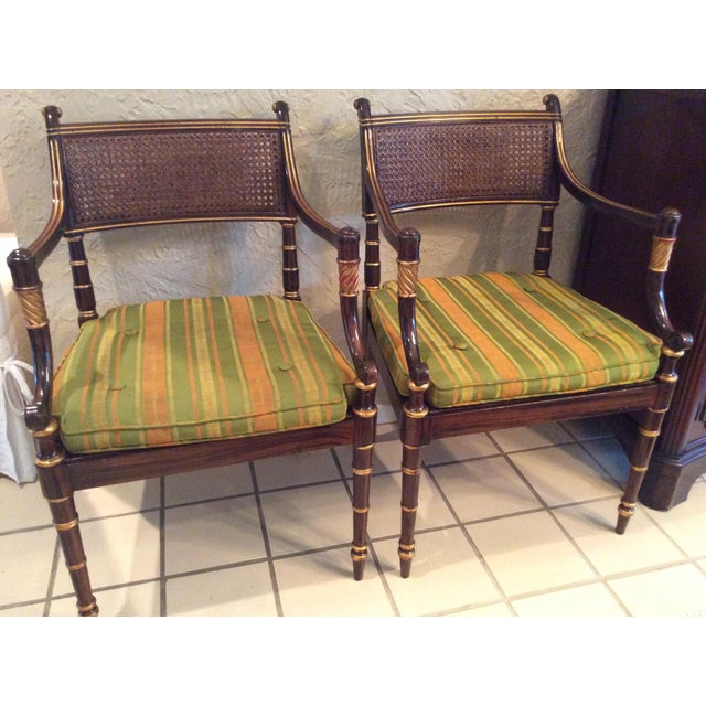 Vintage Baker Regency Accent Chairs - A Pair - Image 3 of 7