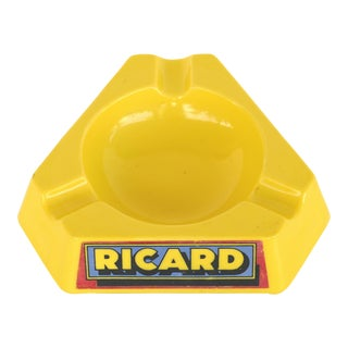 Mid-Century Modern Ricard French Opalex Glass Ashtray For Sale