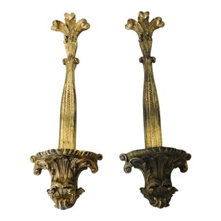 Vintage Neoclassical Wall Sconces - A Pair