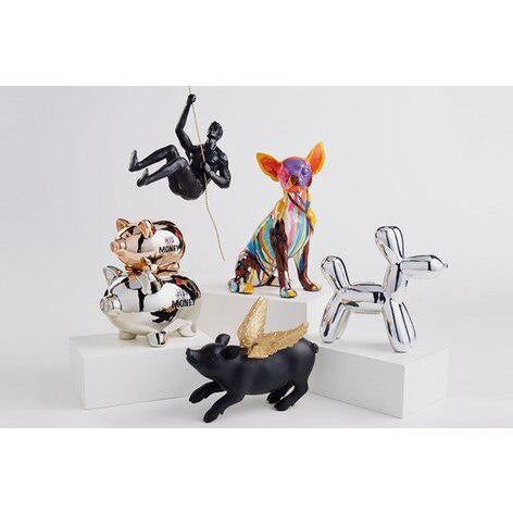"""2010s Interior Illusions Plus Silver Mini Balloon Dog Bank - 7.5"""" Tall For Sale - Image 5 of 7"""