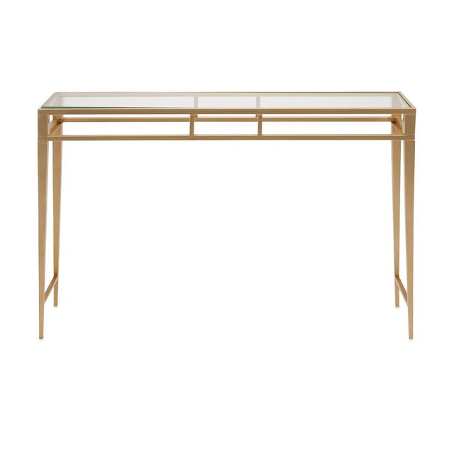 Gold Console Table - Image 2 of 3