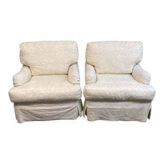 Room & Board Cisco Bros Charleston Slipcover Armchairs - a Pair For Sale