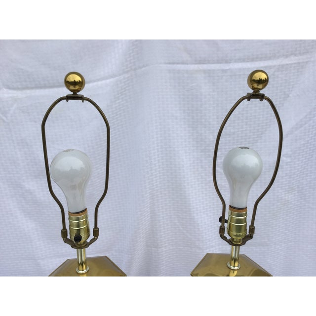 Vintage Modern Brass Table Lamps For Sale - Image 5 of 11