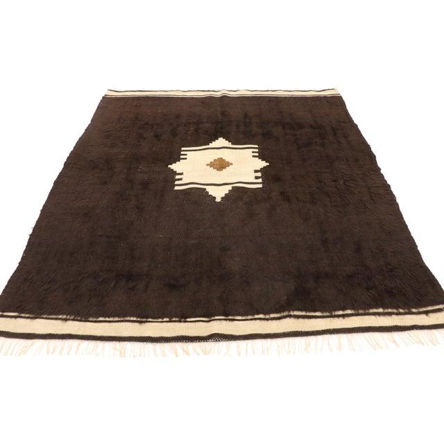 Mid-Century Modern Vintage Turkish Angora Blanket Rug - 04'00 X 04'06 For Sale - Image 3 of 9