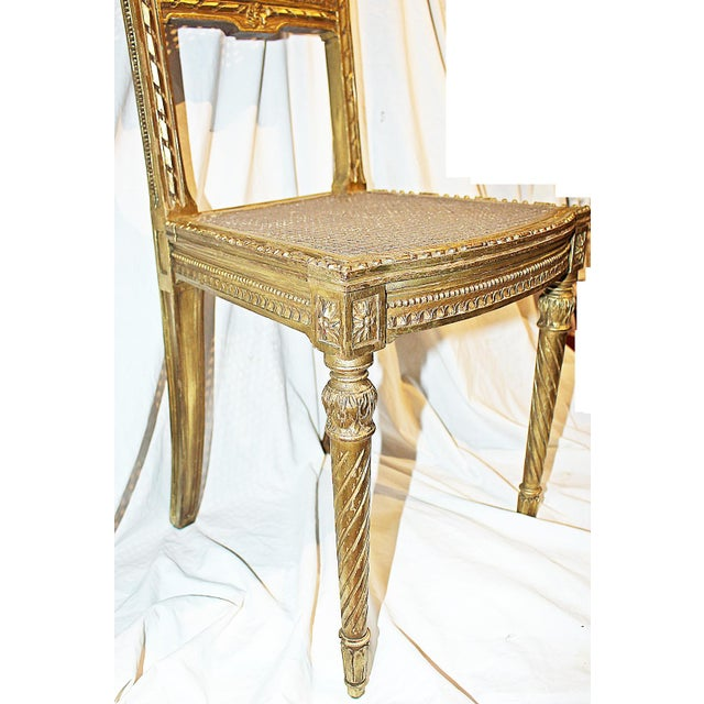 Super 1880S Louis Xvi Gilt Cane Vanity Chair Caraccident5 Cool Chair Designs And Ideas Caraccident5Info