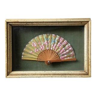 Small Chinese Silk Fan Shadow Box