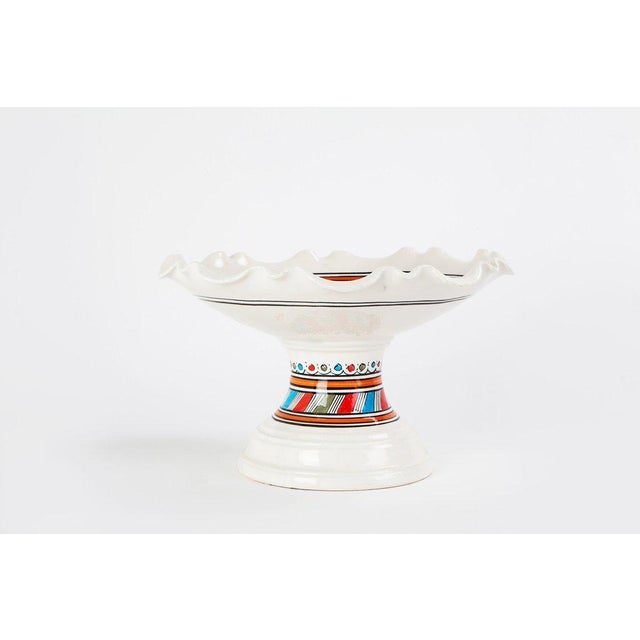 Moroccan Ceramic Coupe Plate - Image 2 of 3
