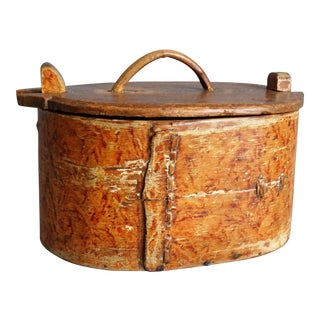19th-Century Antique Swedish Tine Box For Sale