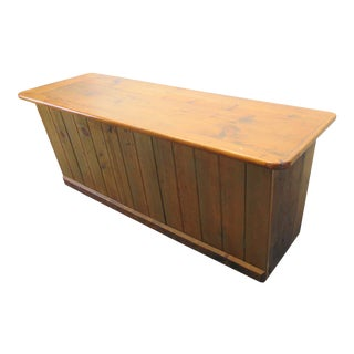 Early 20th Century Rustic Pine Store Counter Island For Sale