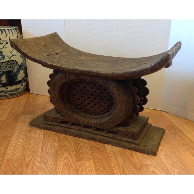 Early 20th Century Ashanti Chief's Bench For Sale - Image 11 of 11