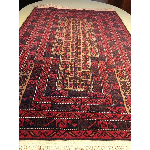 Vintage Geometric Handmade Rug - 3′ × 5′4″ For Sale - Image 9 of 10