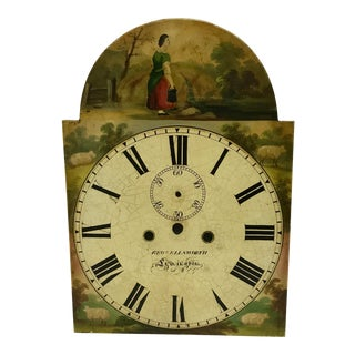 Antique English Hand Painted Clock Face, C.1890 For Sale