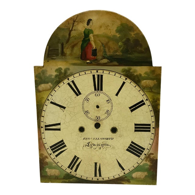 Antique English Hand Painted Clock Face, C.1890 - Image 1 of 6