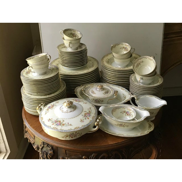 Vintage Rare 1947(M)Naomi by Noritake China Dinnerware 96 Pieces- Service for 12/ Final Reduction For Sale - Image 9 of 9