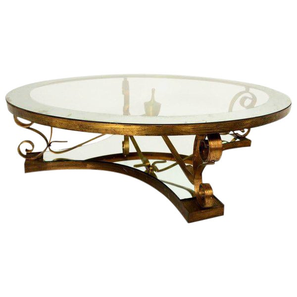 Arturo Pani Round Cocktail Table For Sale