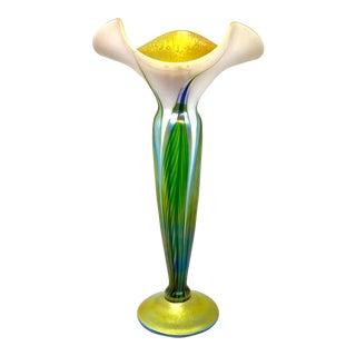 Contemporary Lundberg Studio Art Glass Floriform Vase For Sale