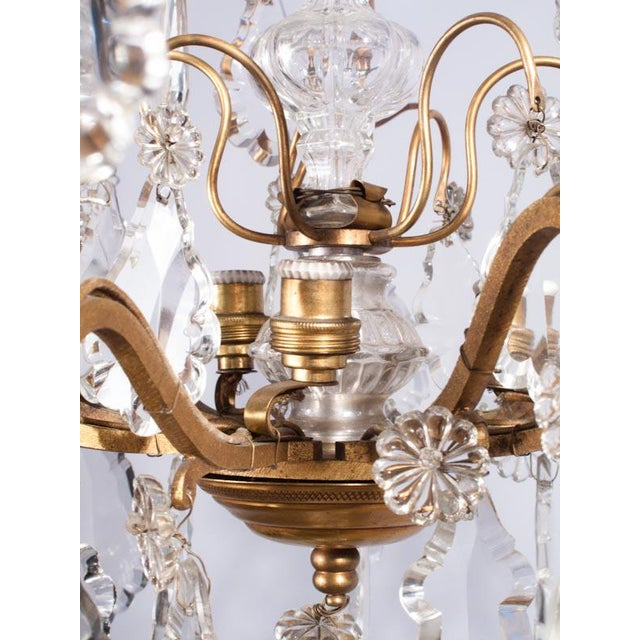 Gold 19th Century French Napoleon III Crystal Chandelier For Sale - Image 8 of 13