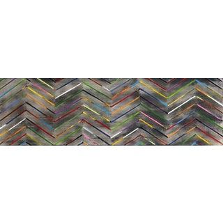 "Original Abstract Artwork, ""Zig Zag 16-3-2"" by Petra Ros-Nickel For Sale"