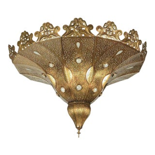 Moroccan Brass Pasha Chandelier For Sale