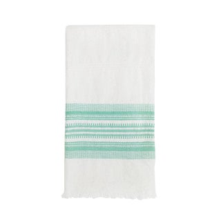 Mint & White Kitchen Towel For Sale