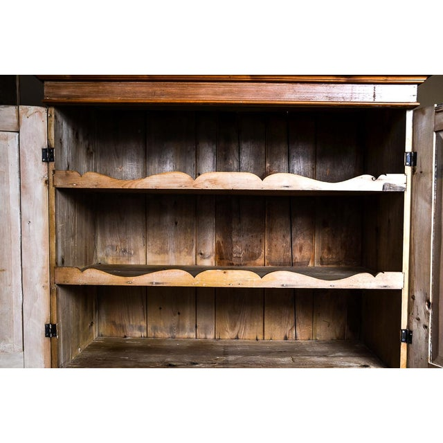 Antique Scrubbed Pine Linen Press Cabinet - Image 7 of 10