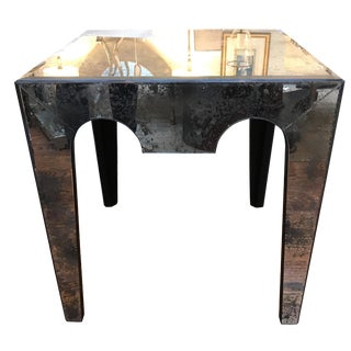 Antique Mirror Side Table