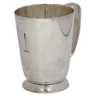 1930s English Hotelware Silver-Plate Half-Pint Mug For Sale