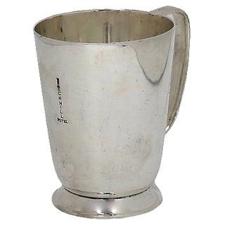 1930s English Hotelware Silver-Plate Half-Pint Mug For Sale