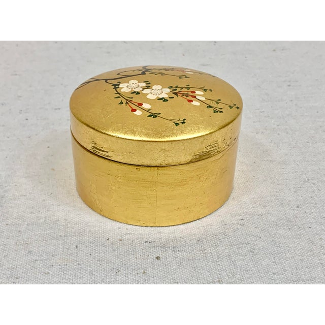 Late 20th Century Vintage Japanese Set of Lacquered Gold Coasters With Box For Sale - Image 5 of 11
